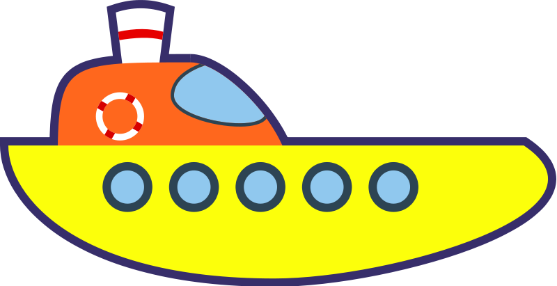 Free Yellow Cartoon Ship