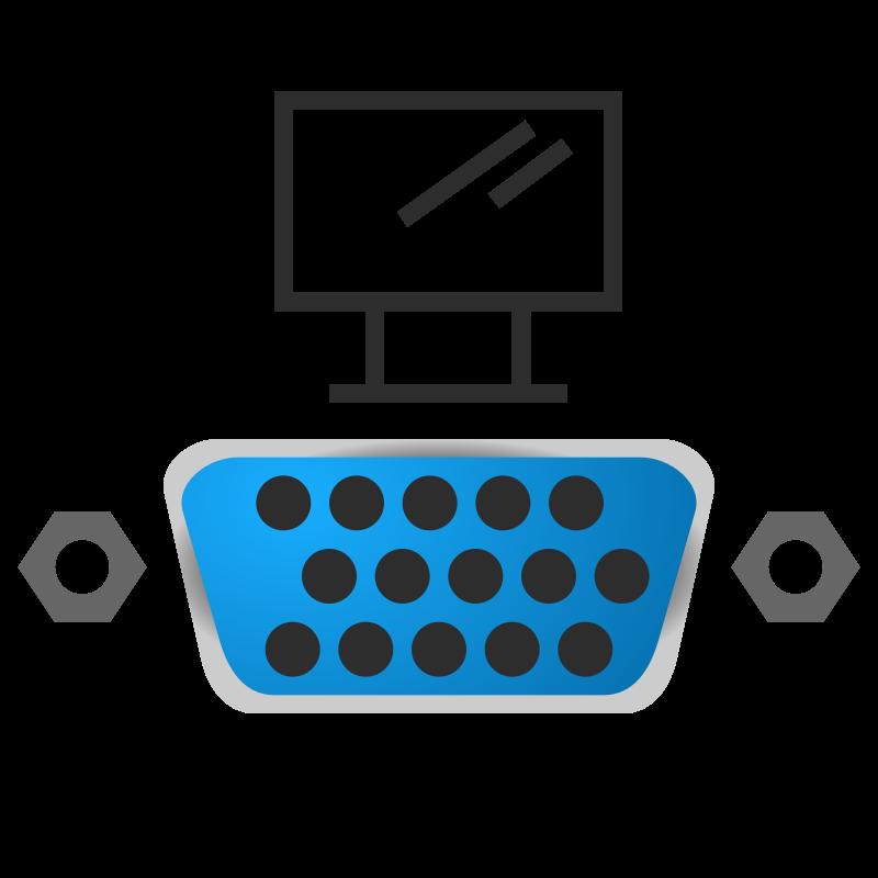 Free VGA port icon