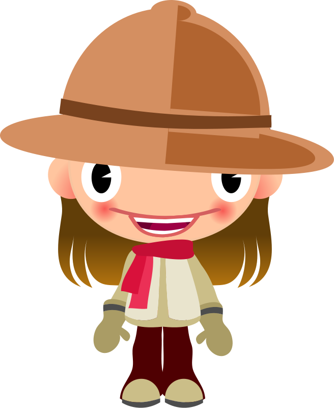 Free Talking Girl in Safari Clothes