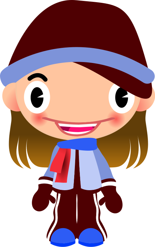 Free Clipart: Talking Girl in Warm Sports Clothes | qubodup