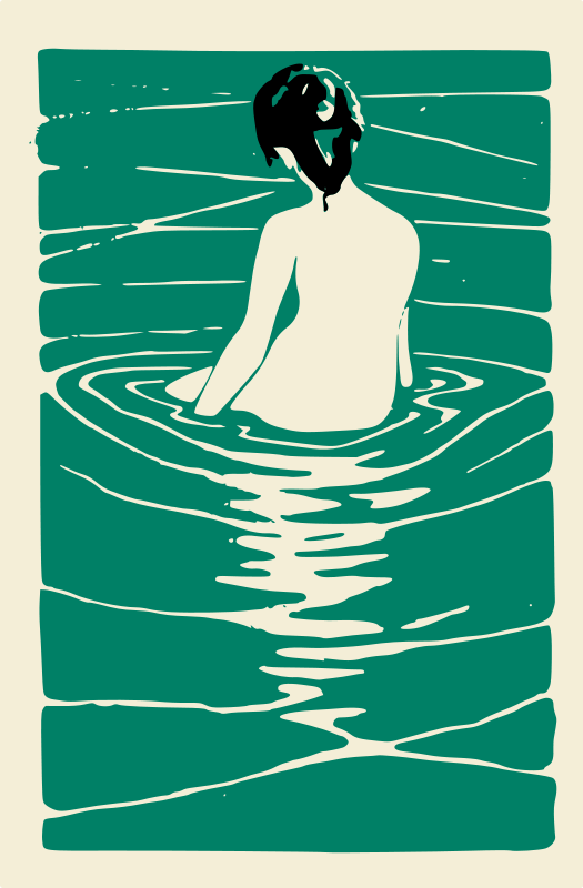 Free Lady in an Onsen