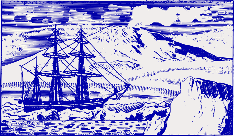 Free Old Ship at the South Pole