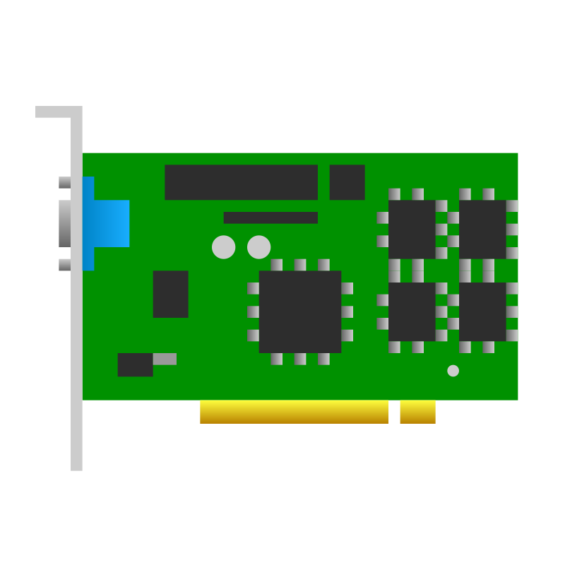 Free PCI video card icon