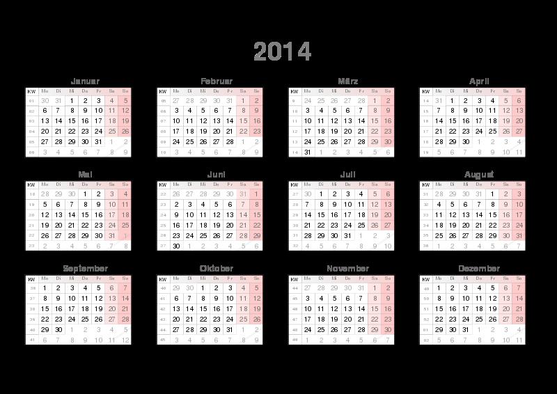 Free Kalender mit KW