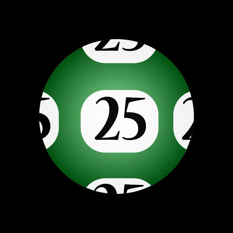 Free #25 Lotto Ball