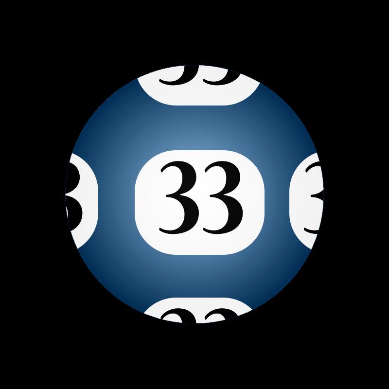 Free #33 Lotto Ball