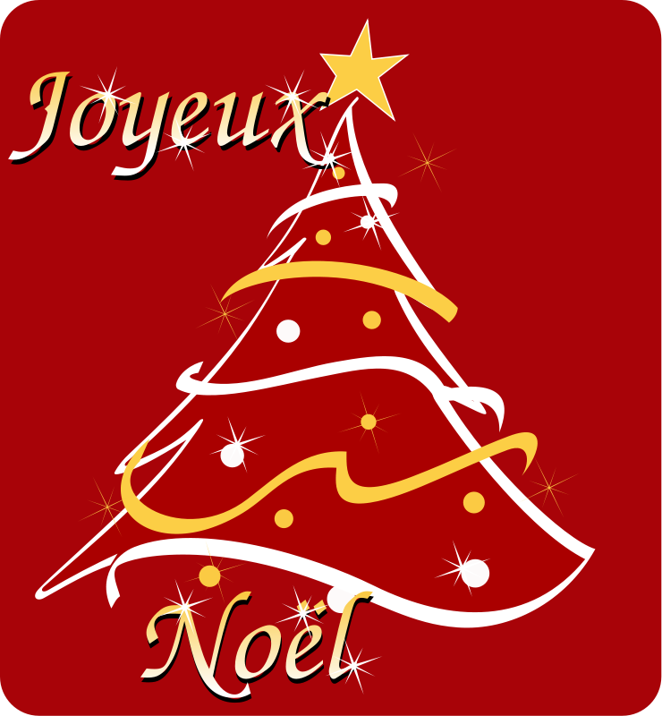 Free Joyeux Noel - Merry Christmas in french