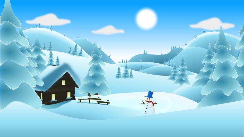 Free Clipart: Winter Landscape | cyberscooty