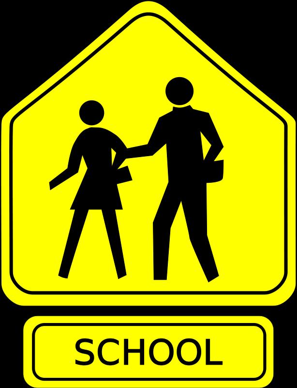 Free School Crossing Caution