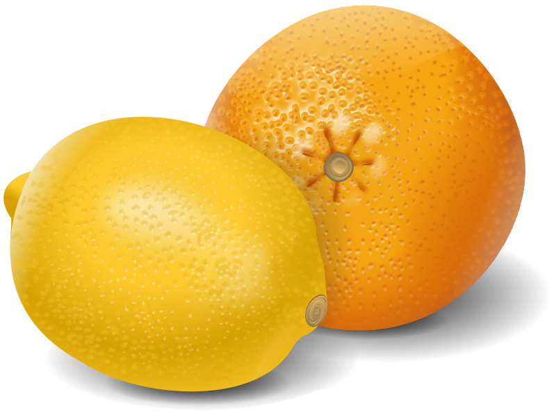 Free lemon orange fruits