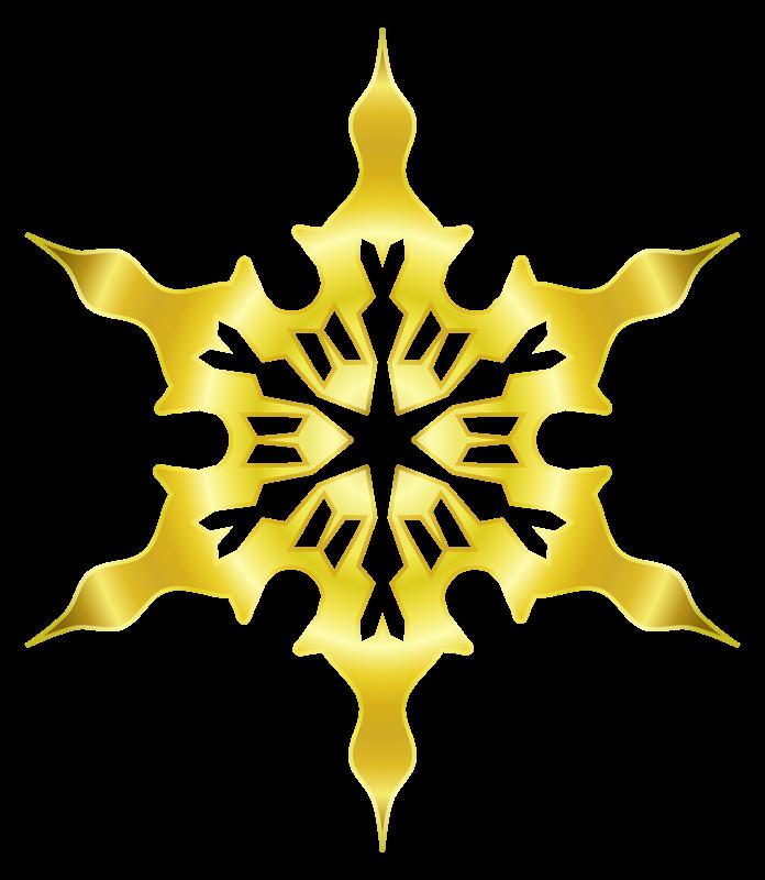Free Snowflake 8 (gold)