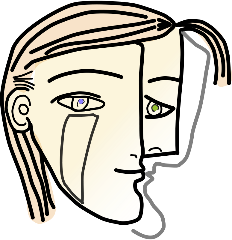 Free Cubist Woman Head