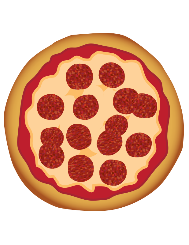 free clipart pepperoni pizza toons4biz rh 1001freedownloads com Cartoon Pizza Clip Art Pizza Slice Clip Art