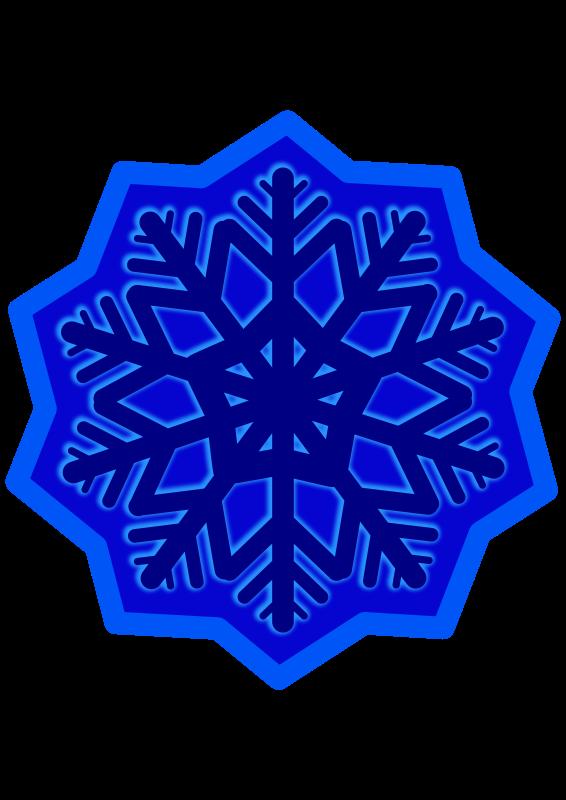 Free Snow flake - dark