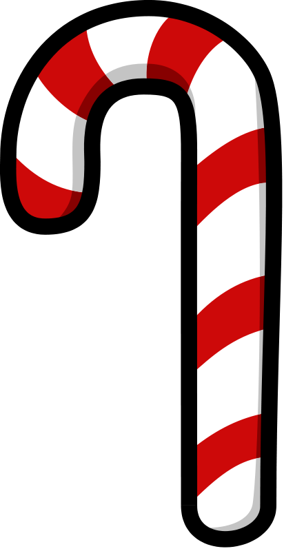 free clipart candy cane darkness3560