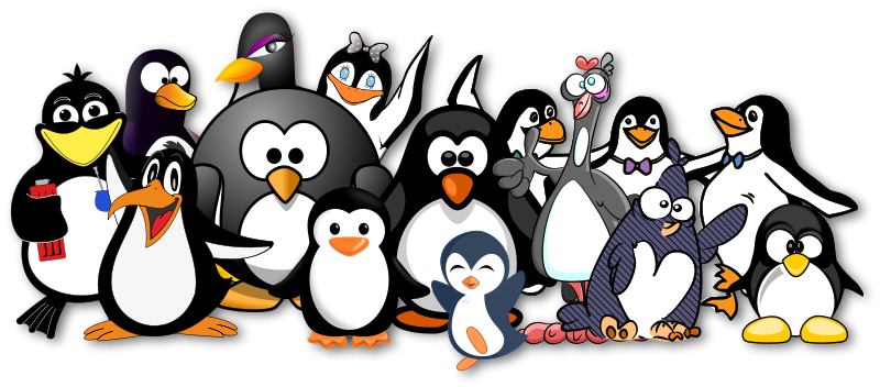 Free Penguins just love OpenClipart!