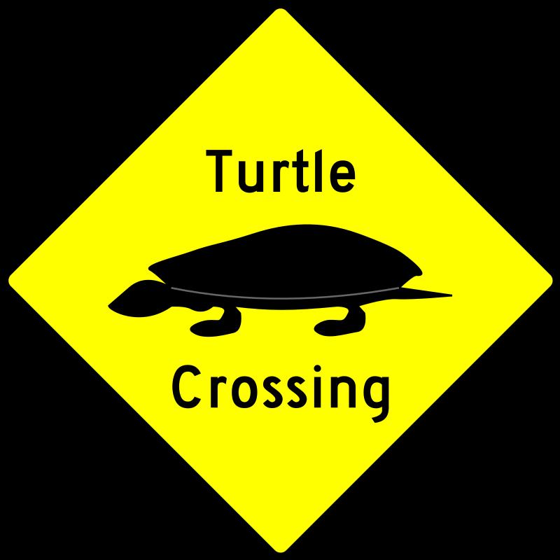 Free Caution - Turtle Crossing