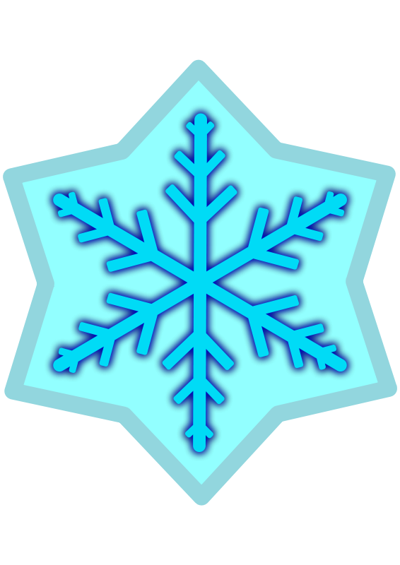 Free Snow flake - light