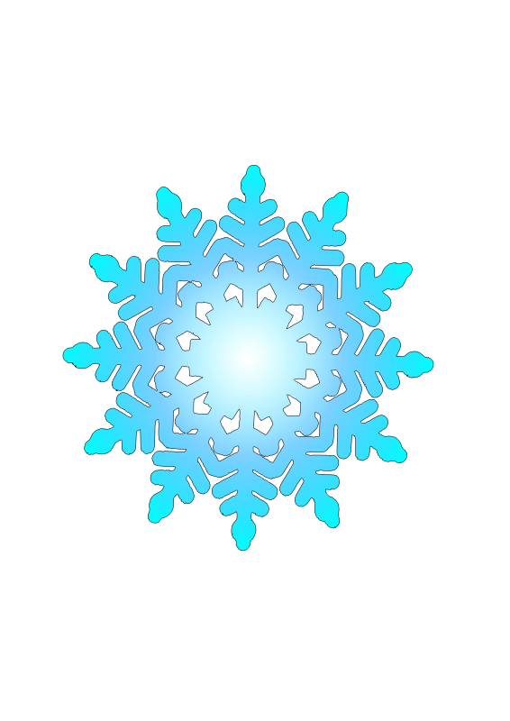 Free snow flake 1