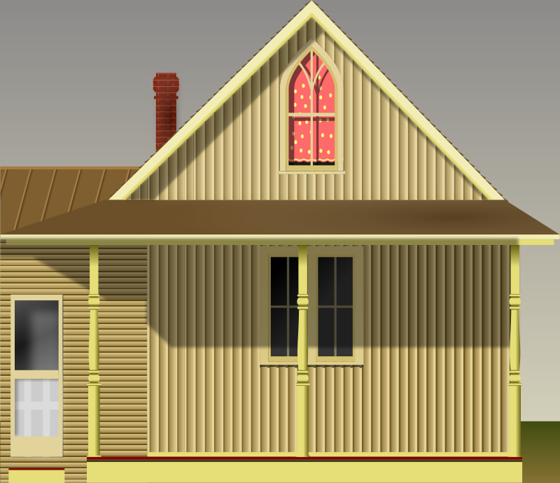 Free Clipart: American Gothic House | conte magnus