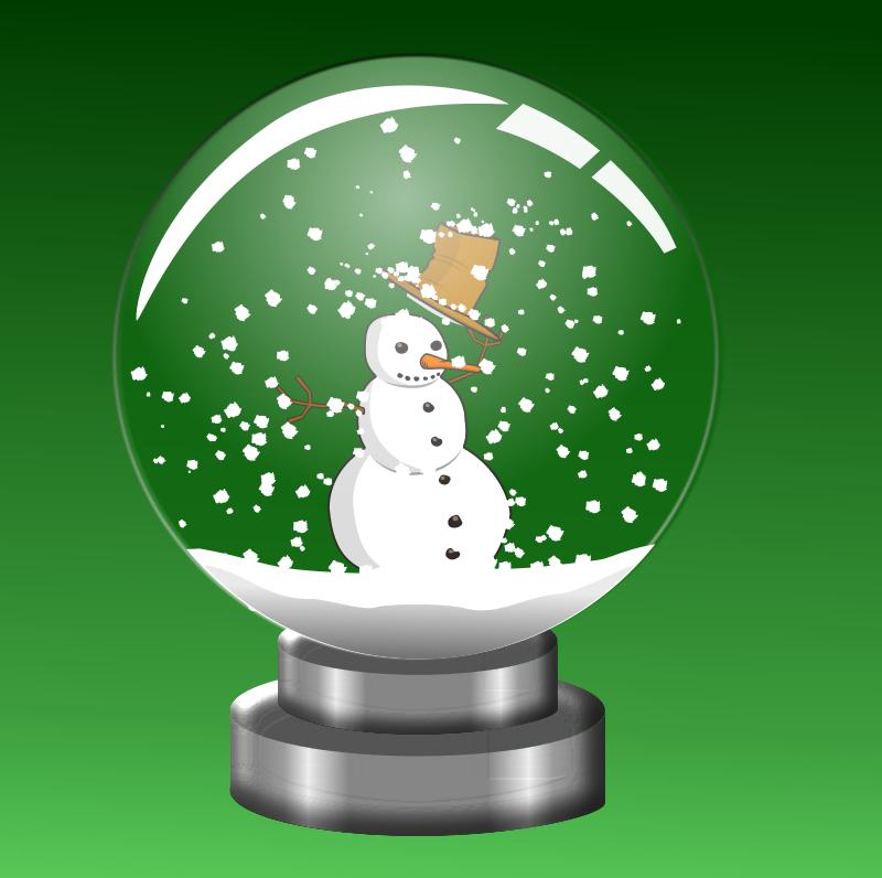 Free Snow Globe Snowman