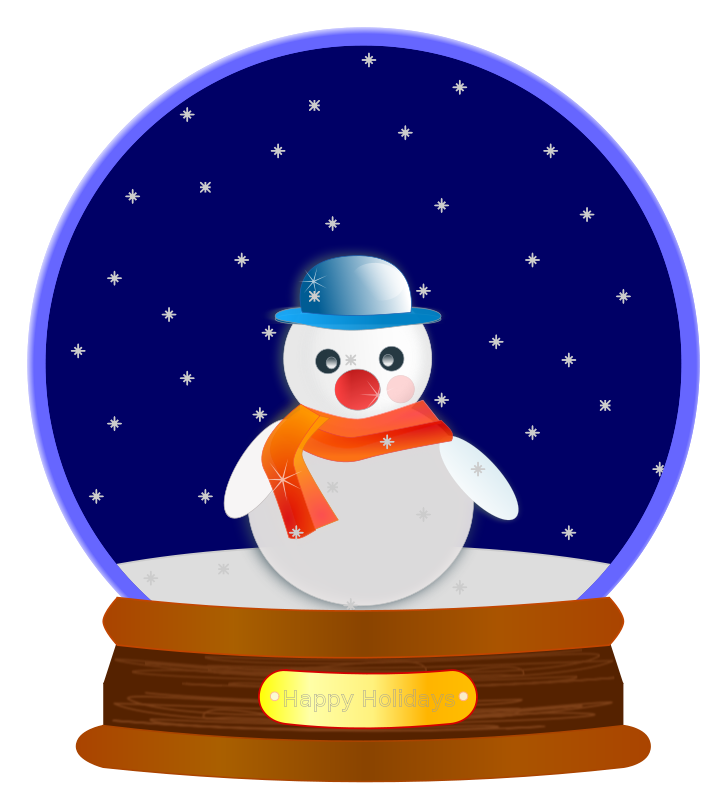 Free Animated Snow Globe