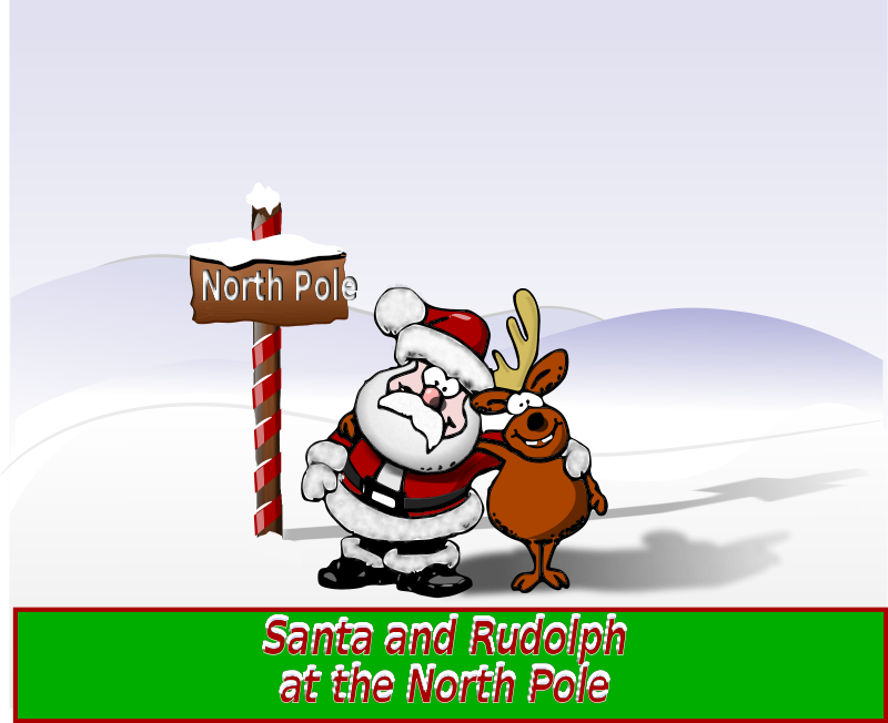 Free Santa and Rudolph at the North Pole