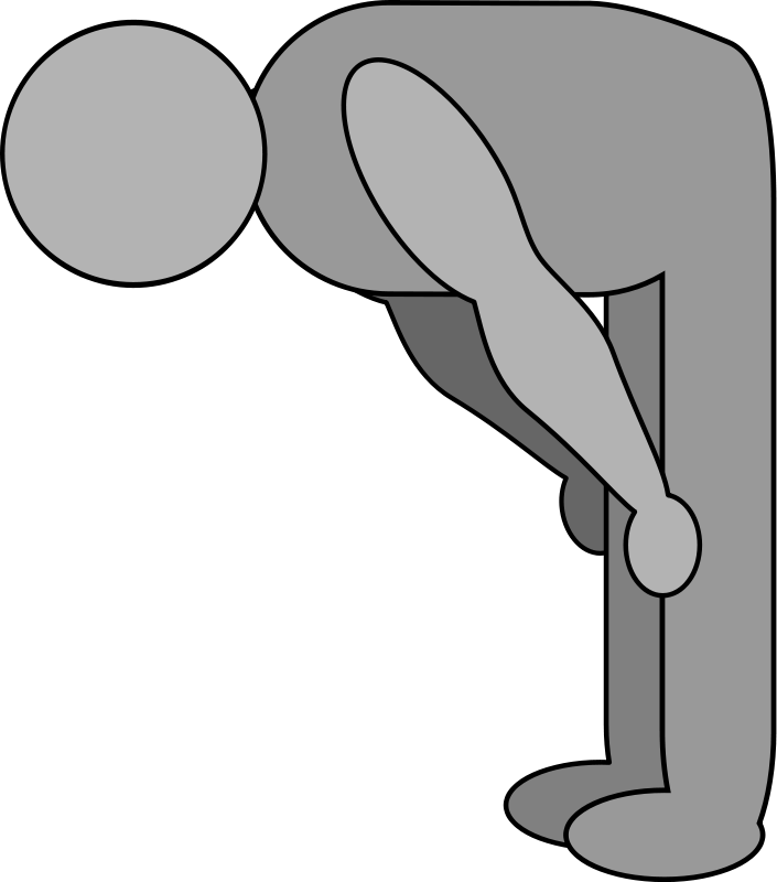 Free shaded bowing figure