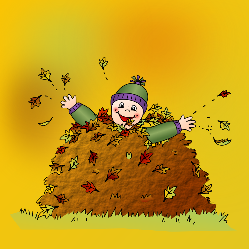 Free Colored: Leaf pile