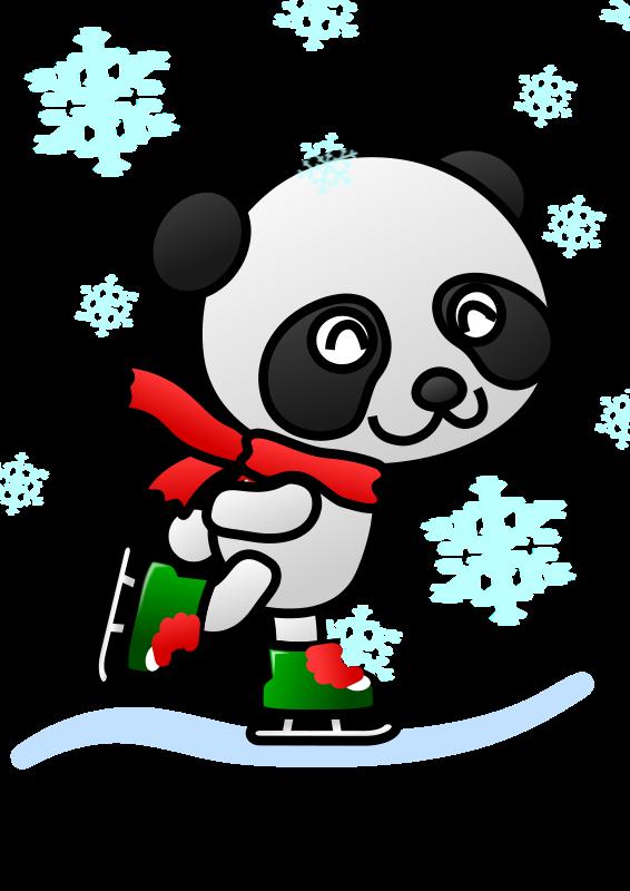 Free Colored: Panda Skater