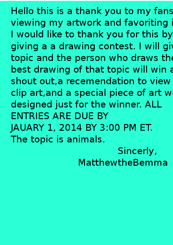Free Drawing Contest THIS ONE YOU CAN READ LEASE READ DESCRIPITON HOLDS VALUABLE INFO