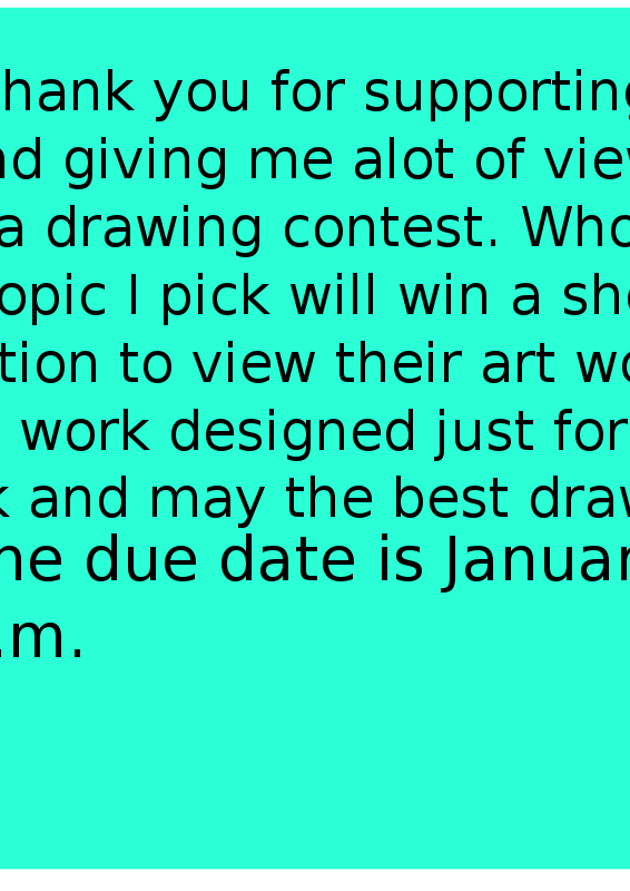 Free Drawing Contest