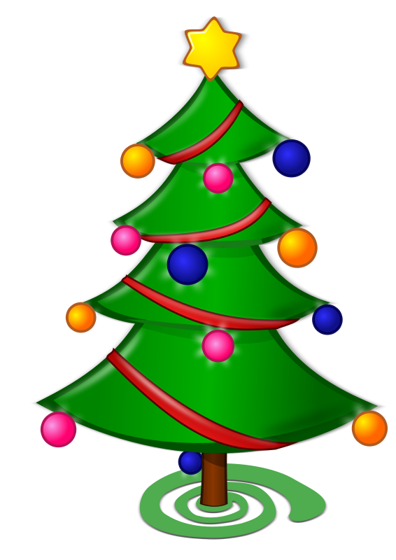Free Colored: Christmas Tree