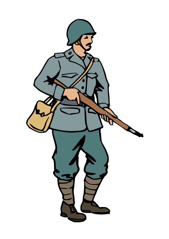 Free Clipart: Italian soldier of WW2 | benj