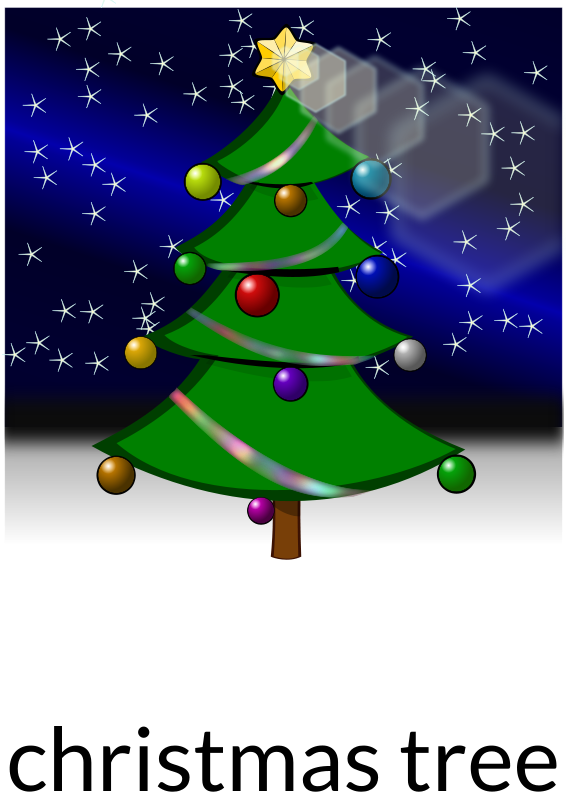 Free Christmas tree recolored