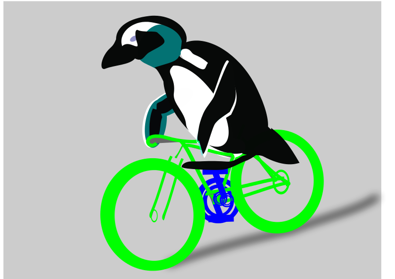 Free cycling penguin