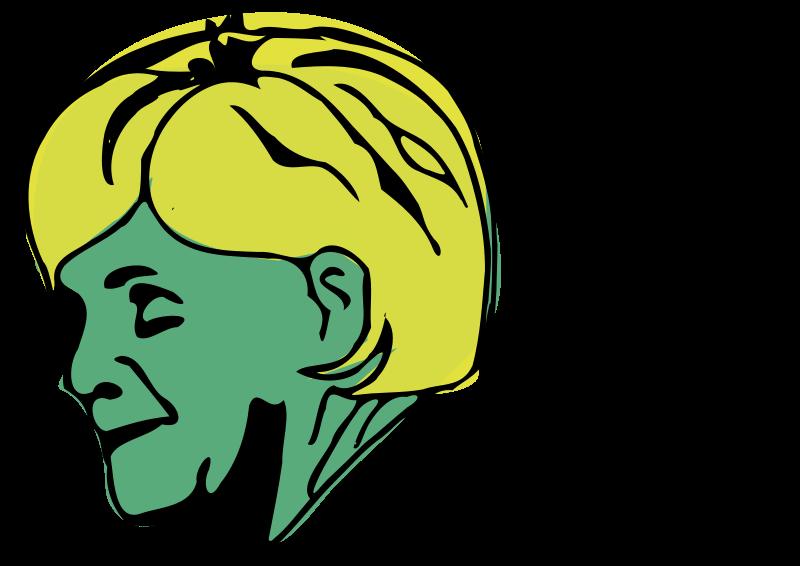 Free Clipart: Merkel portrait profile | user unknown
