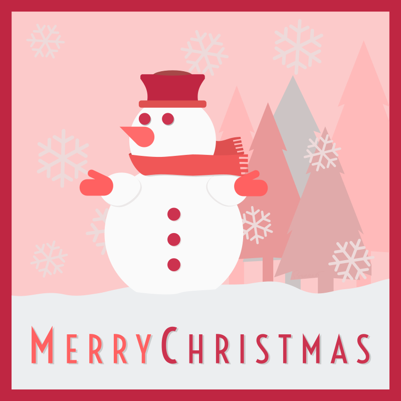 Free Snowman Merry Christmas Card
