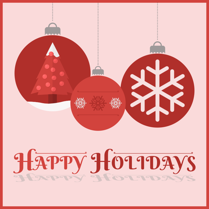 Free Clipart: Happy Holidays Card | barrettward
