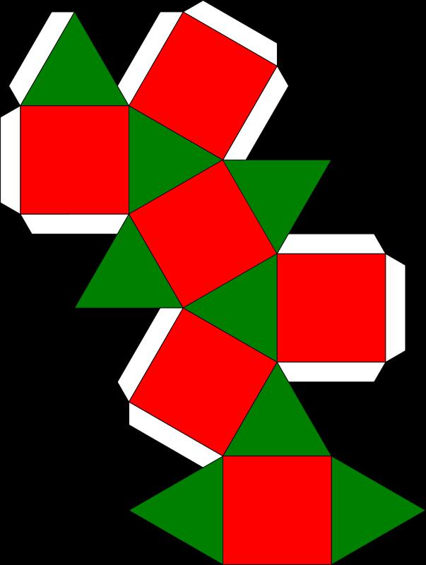 Free cuboctahedron ornament