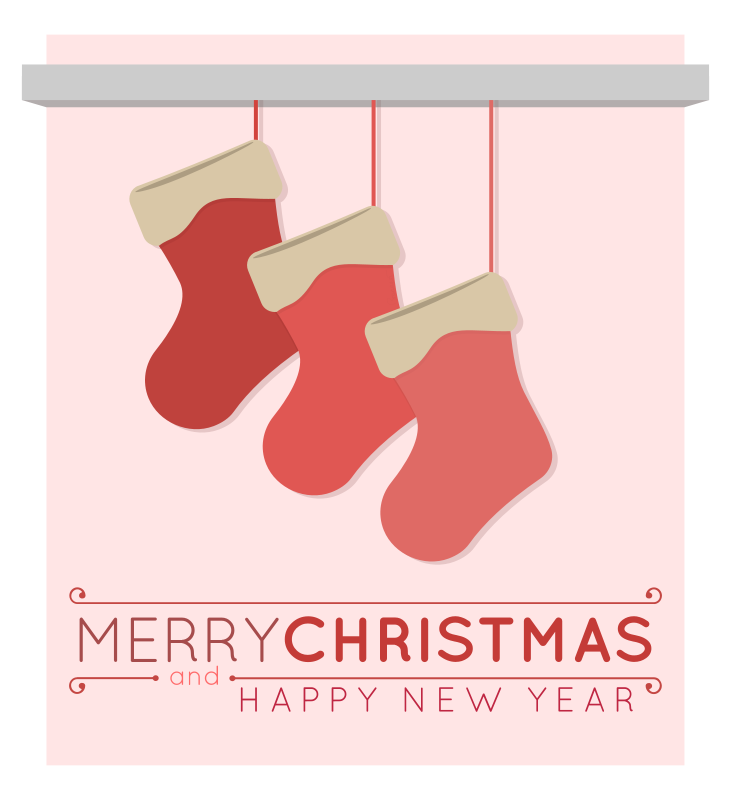 Free Christmas Stockings Merry Christmas Card