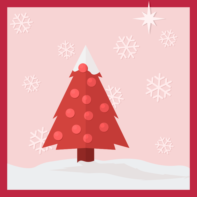 Free Clipart: Christmas Tree in the Snow | barrettward