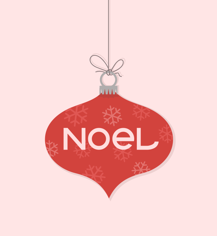 Free Noel Christmas Ornament