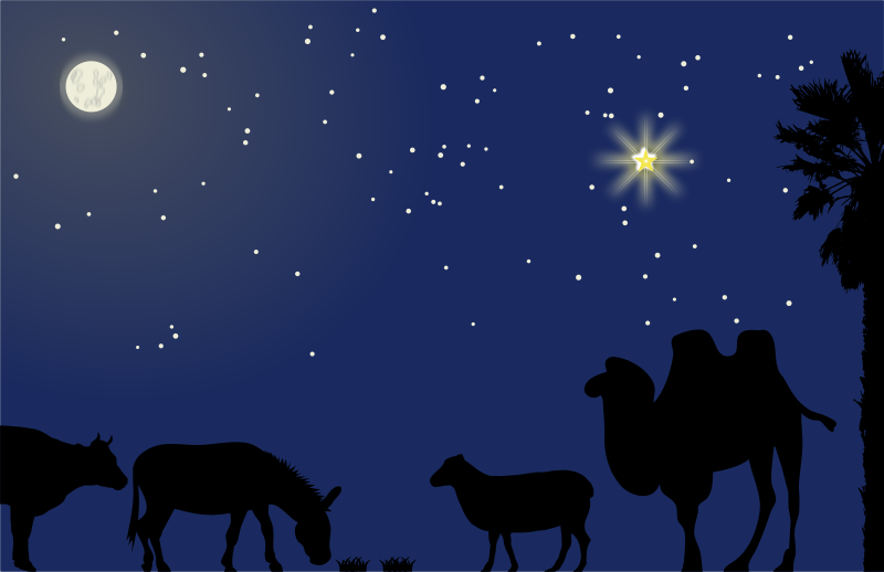 Free Nativity scene background - no mask