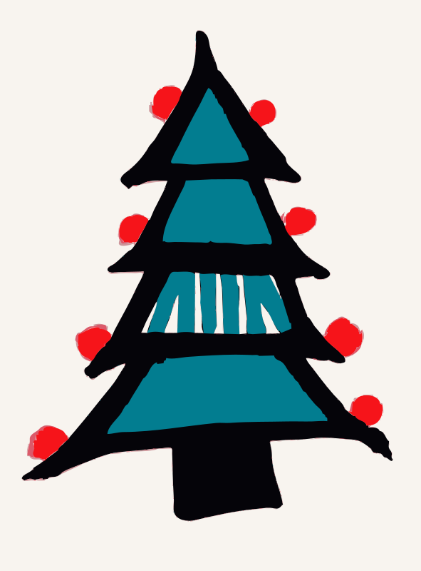 Free Colored in Christmas Tree