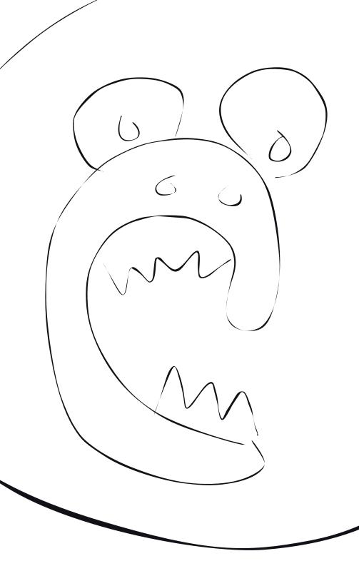 Free Cartoon screaming monkey