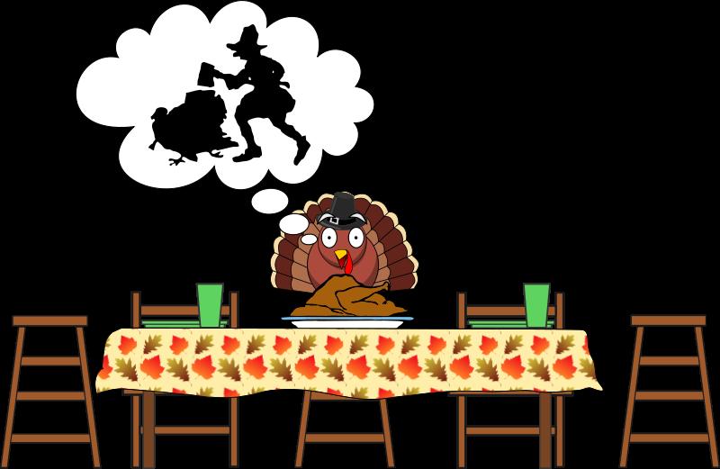 Free Turkey, Scared Turkey...Happy Thanksgiving