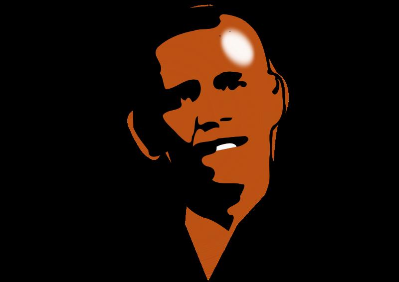 Free obama portrait colored