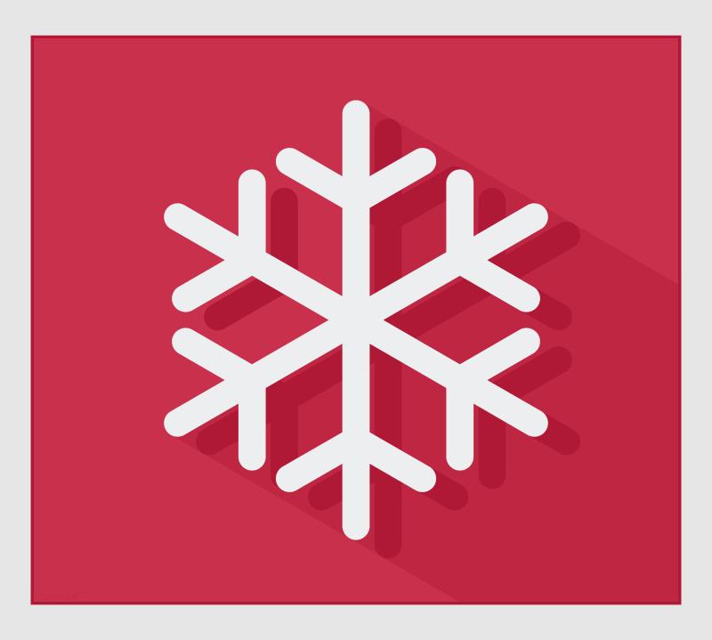 Free Single Modern Snowflake