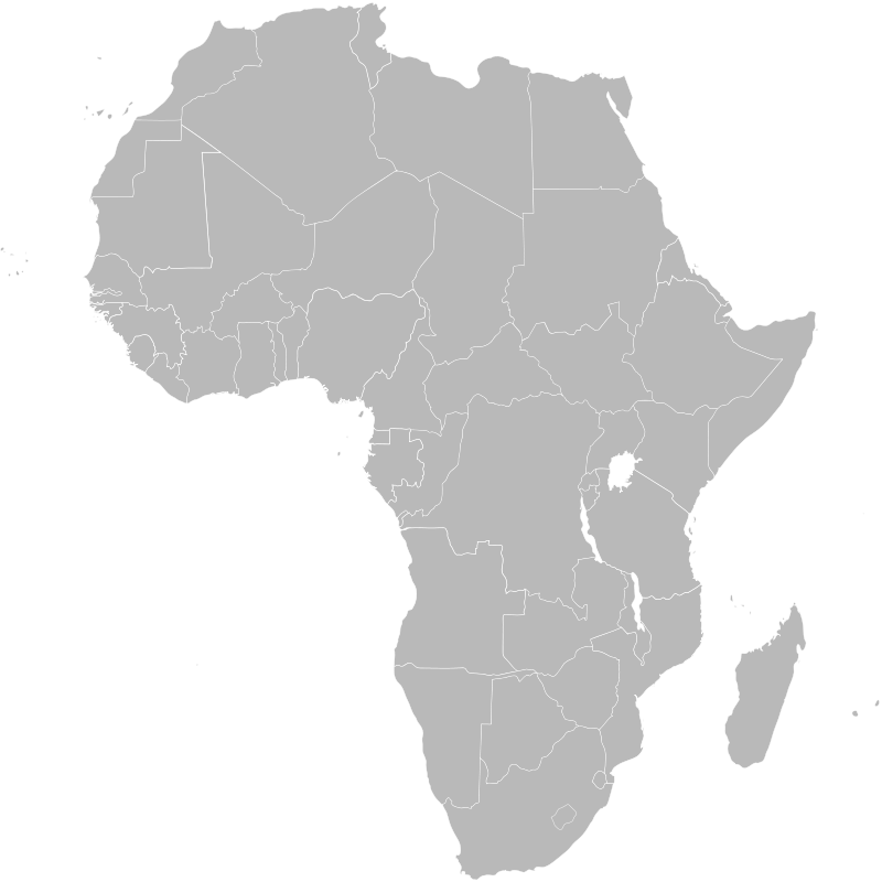 Free Map of Africa showing Ethiopia